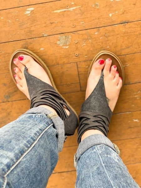 Carly | Canvas Strappy Sandals