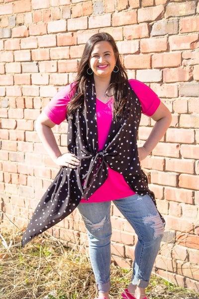 Women's   Polka Dot Ruffle Vest