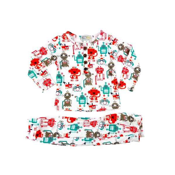 Mr. Roboto Two Piece Pajamas