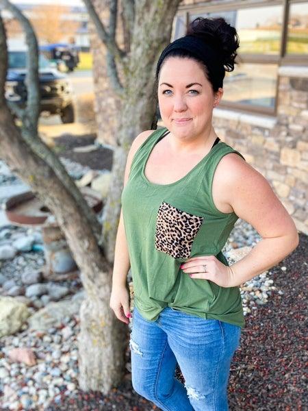 Grrrrrl Tank Top   Women's   Cheetah Pocket