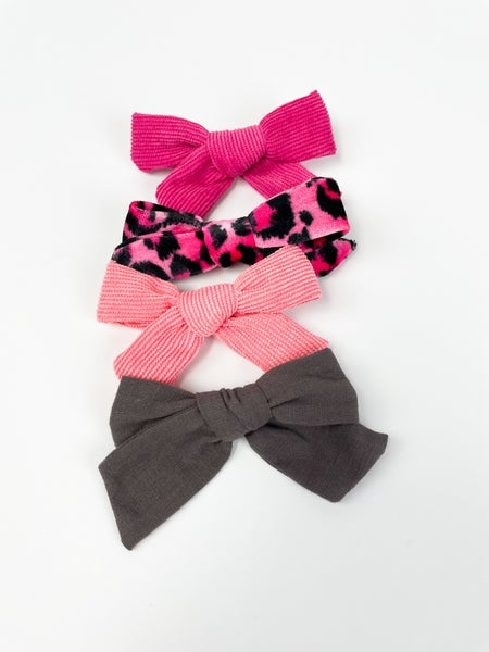 Pretty Pink Leopard   Bow Clip Collection