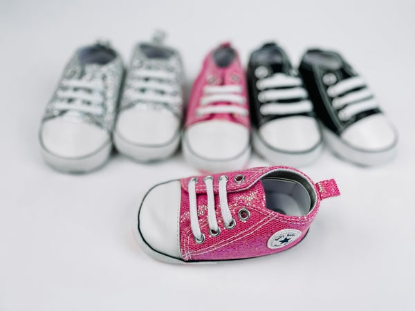DAILY DEAL **Sparkle High Top Soft Sole Sneakers