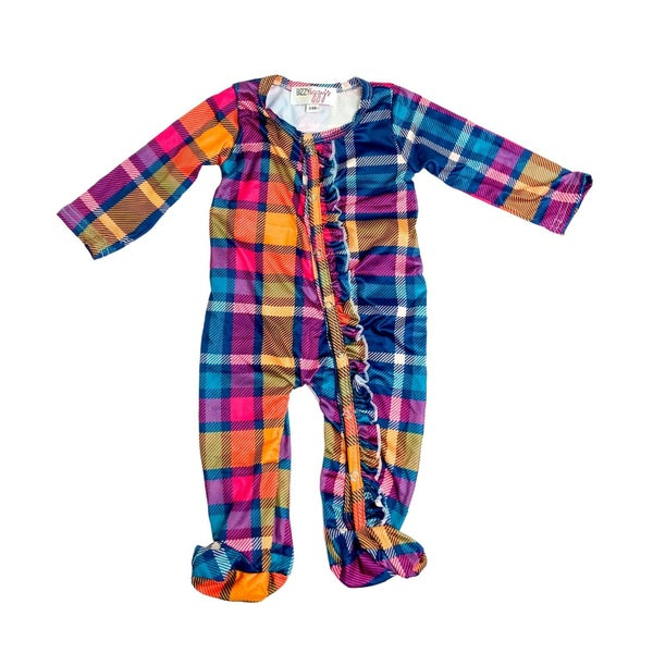 Sunset Plaid Pajamas