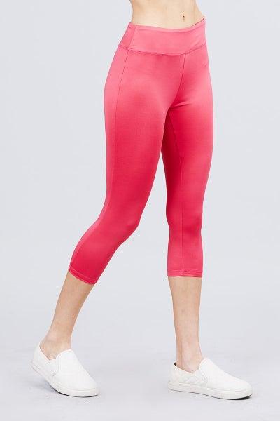 Hot Pink Capri Athleisure Leggings