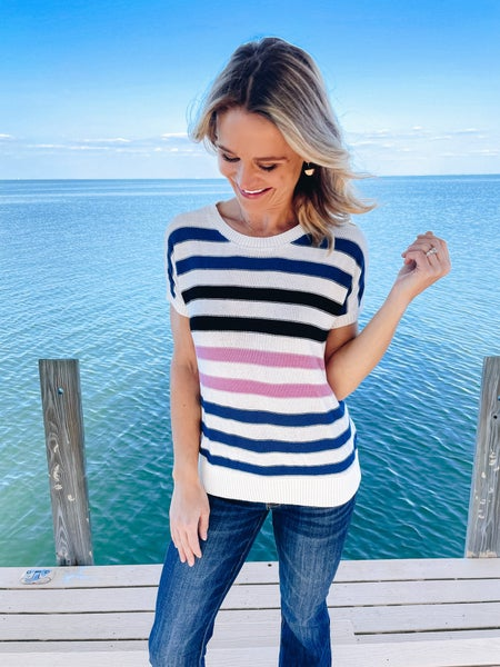 Lightweight Crew Neck Spring Knit Top