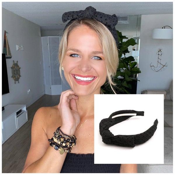 Black Bow Fabric Headband