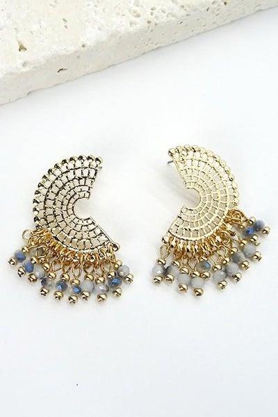 Bohemian Gold Filigree Drop Earrings