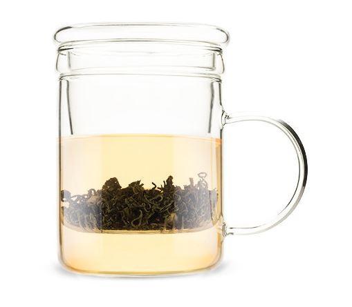 Borosilicate Glass Tea Infuser Mug
