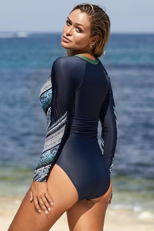 *SALE* Zipper Surf Babe One Piece Swimsuit