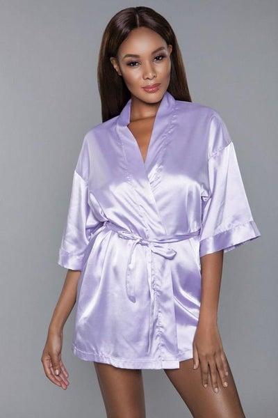 Lavender Satin Sash Getting Ready Robe