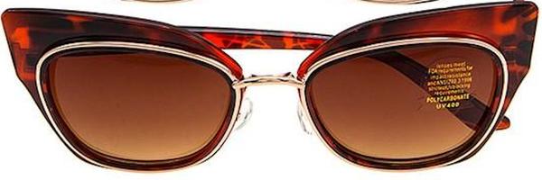 Tortoise Retro Framed Stylish Sunglasses