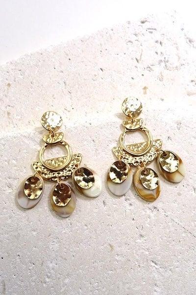 Gold Boho Chandelier Dangle Earrings