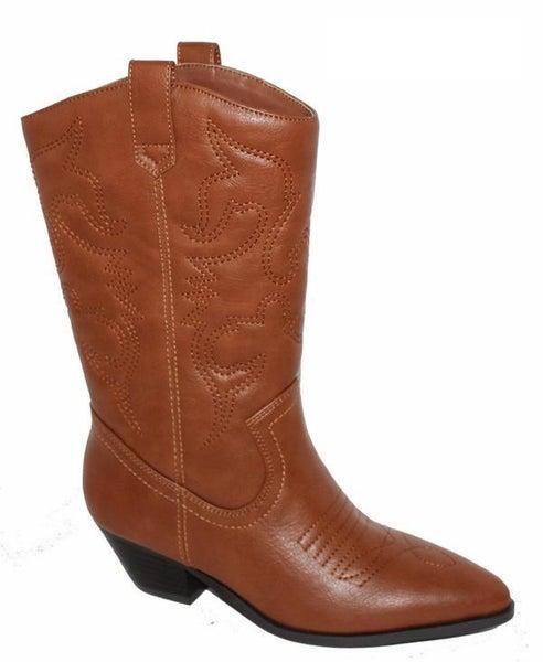 Classic Camel Cowboy Boots