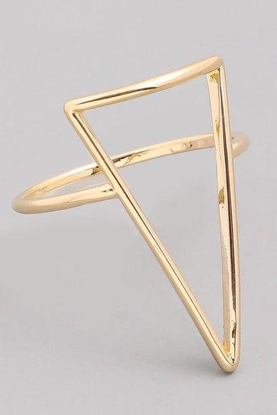 Gold Boho Triangular Cutout Ring