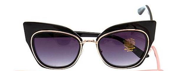 Black Retro Framed Stylish Sunglasses