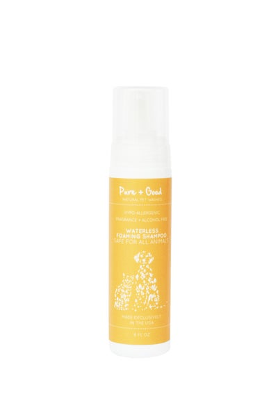 Hypoallergenic Waterless Pet Shampoo: Scent + Essential Oil Free
