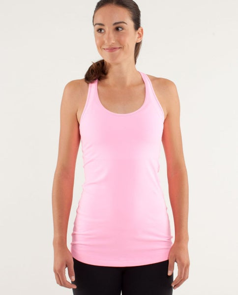 Pink Ribbed Stretchy Racerback Tank