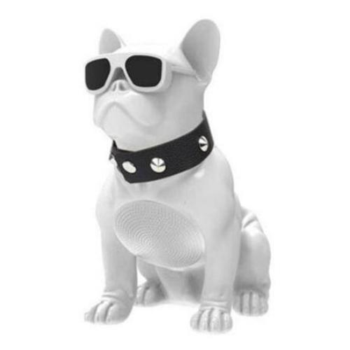 White Mini Bulldog Portable Bluetooth Speaker
