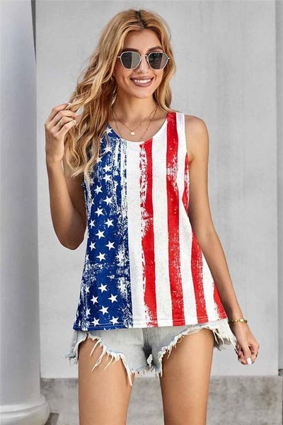 Stars & Stripes American Flag Tank Top
