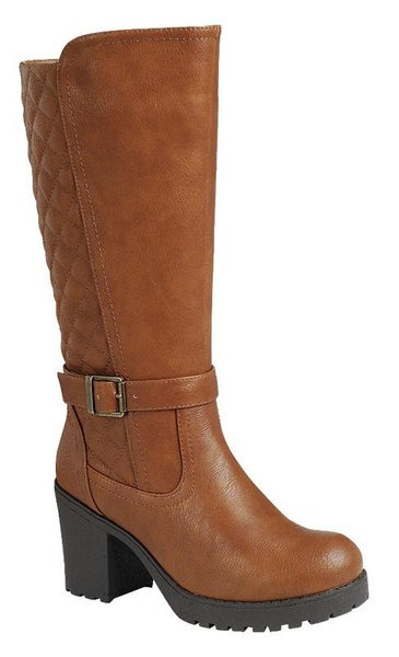 Tan Premium Quilted Boots