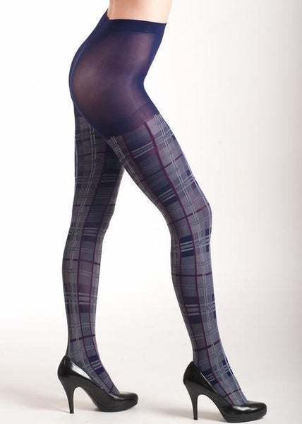 Royal Purple Plaid Fashion Tights