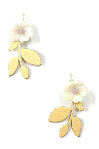 Stunning Gold Floral Drop Earrings
