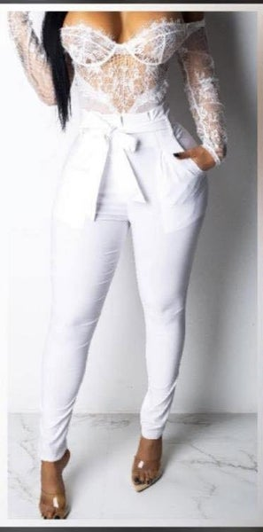 NEW STYLE ALERT! White High Waist Pants| Pockets