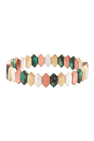 Polygon Cut Multi Stretch Bracelet