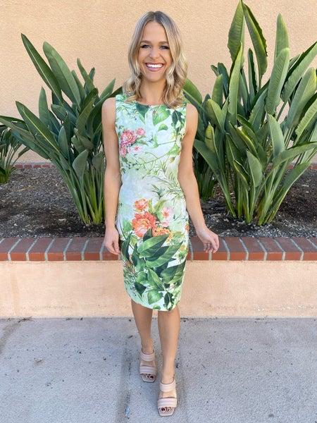 Socialite Showstopper Floral Stretchy Shift Dress