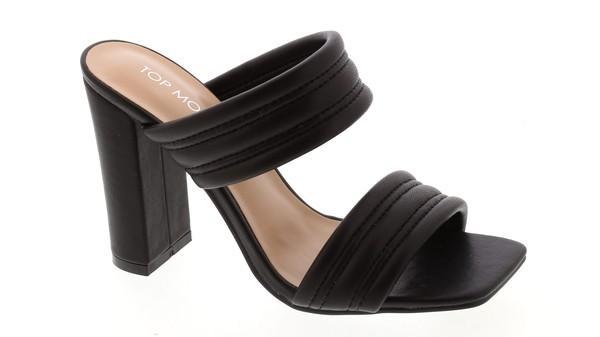 NEW SHOE ALERT!! Black Slip On Heel Sandals