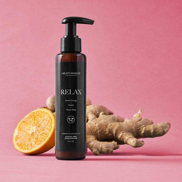 Natural Hand Sani-Cleanser   Relaxing Sweet Orange + Ginger + Ylang Ylang (Large)