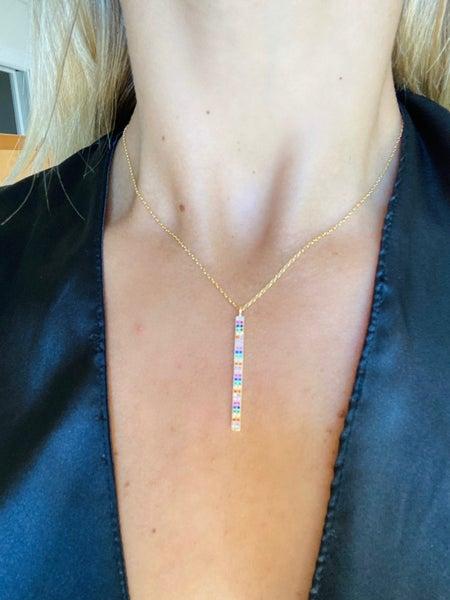 18K Gold Self Transformation Multi Color Necklace