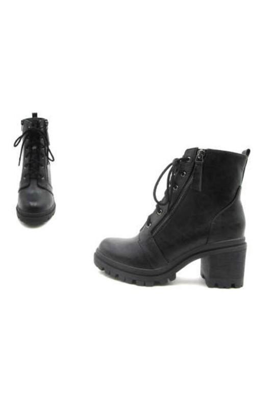 *BACK IN STOCK* Black Lace Up Combat Boots