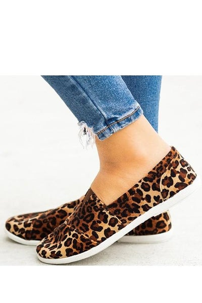 *SALE* Leopard Canvas Slip-On Sneakers
