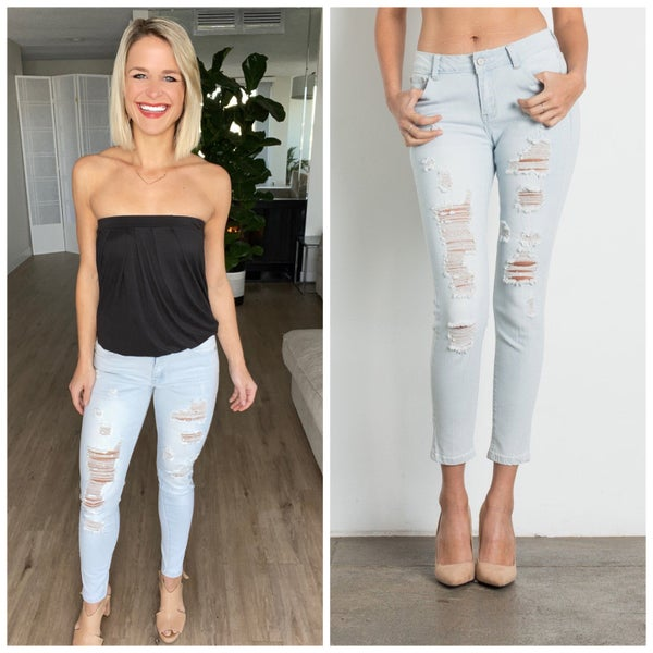 Urban Chick Mid Rise Stretch Skinny Jeans