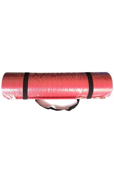 Red Yoga Mat with Shoulder Strap