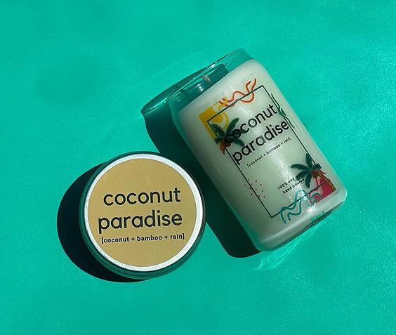 Coconut Paradise   Coconut + Bamboo + Rain   100% Soy Wax Candle