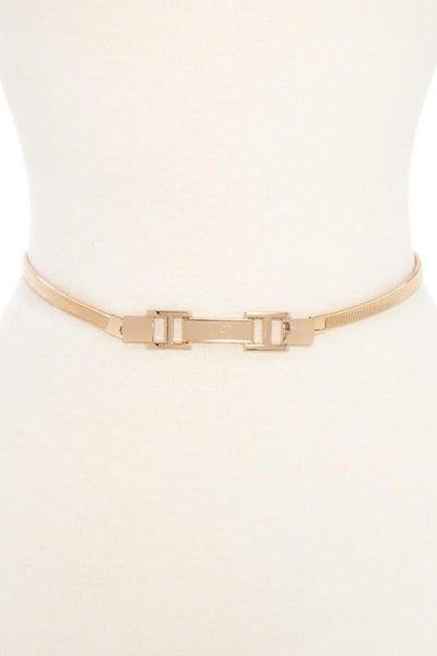 Gold Stretchy Skinny Waist Belt