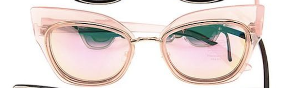 Pink Retro Framed Stylish Sunglasses