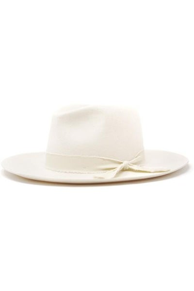 Ivory Wool Felt Panama Hat