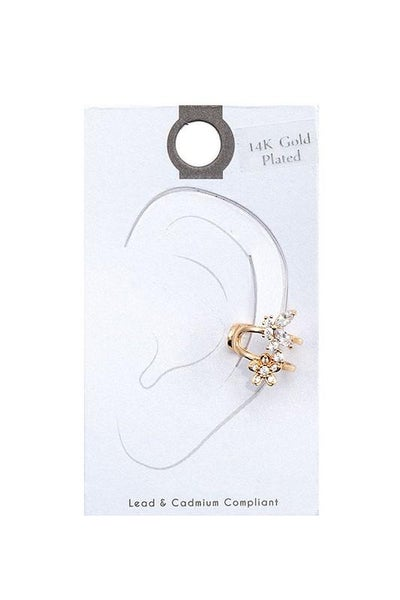 Gold Floral Accent Cuff Earring