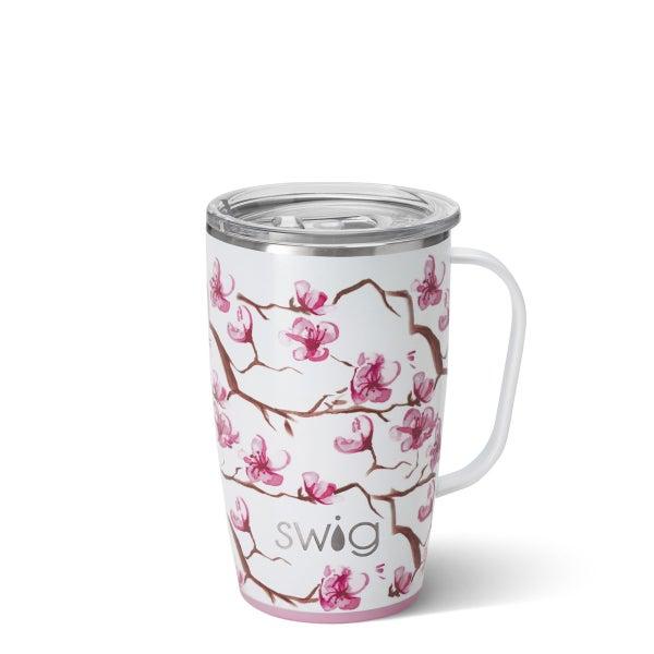 Swig Cherry Blossom 18 oz Premium Tumbler Mug