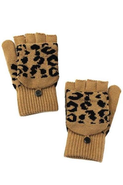 Leopard Fingerless Gloves