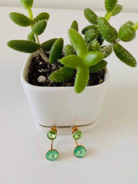 Chic & Unique Jade Jacket Earrings