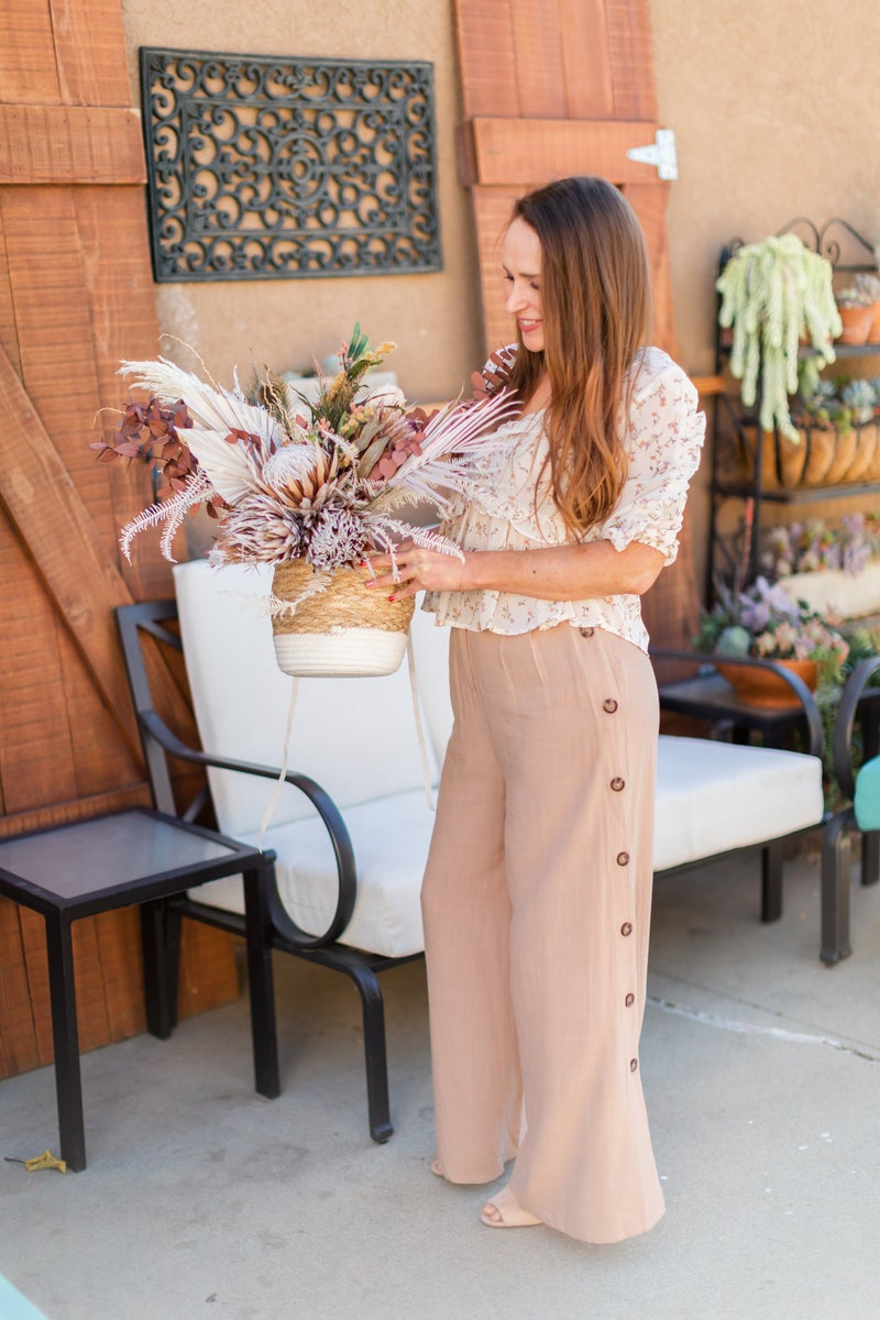 Live For The Moment Wide Leg Pants by Sugar + Lips