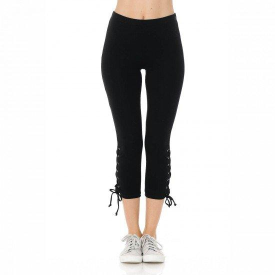 Not Shy At All Lace Up Detail Leggings