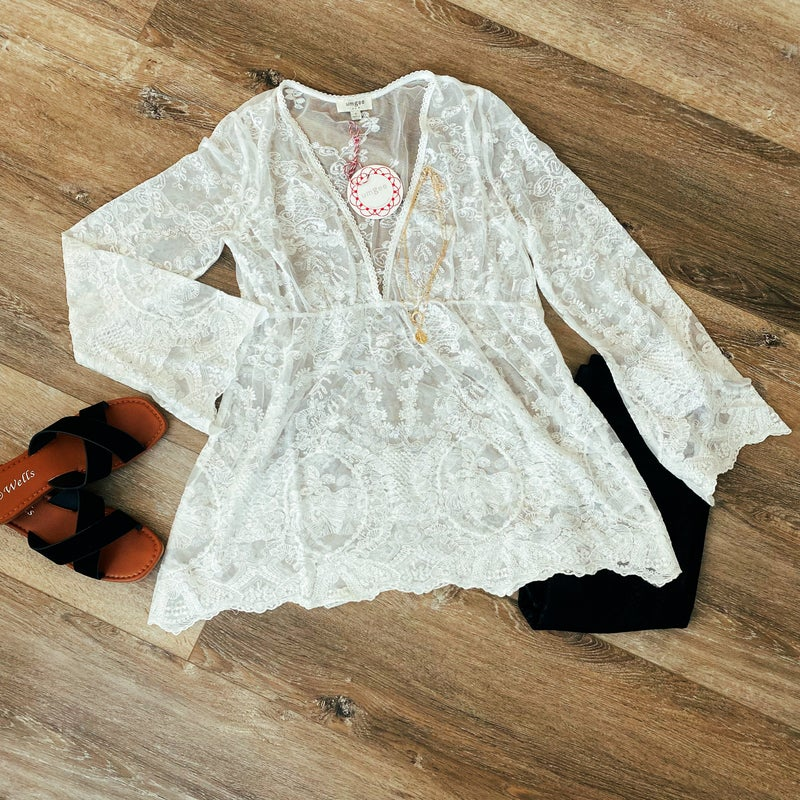 Tell a Tale Lace Blouse by Umgee