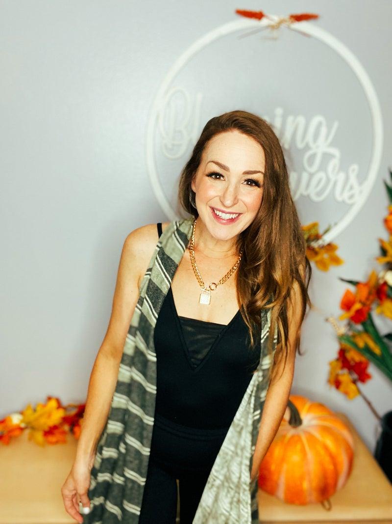 Fall Preview: Olive Stripe Vest