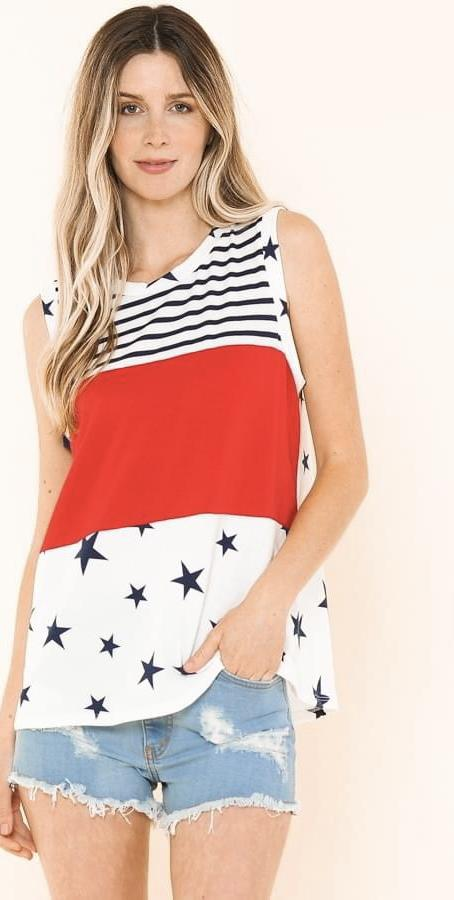Stars + Stripes Forever Tank by Now N Forever