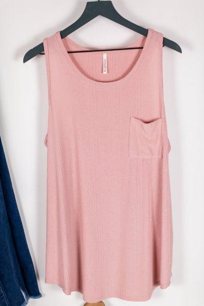 Plus Blushing Pink Tank by Mittoshop